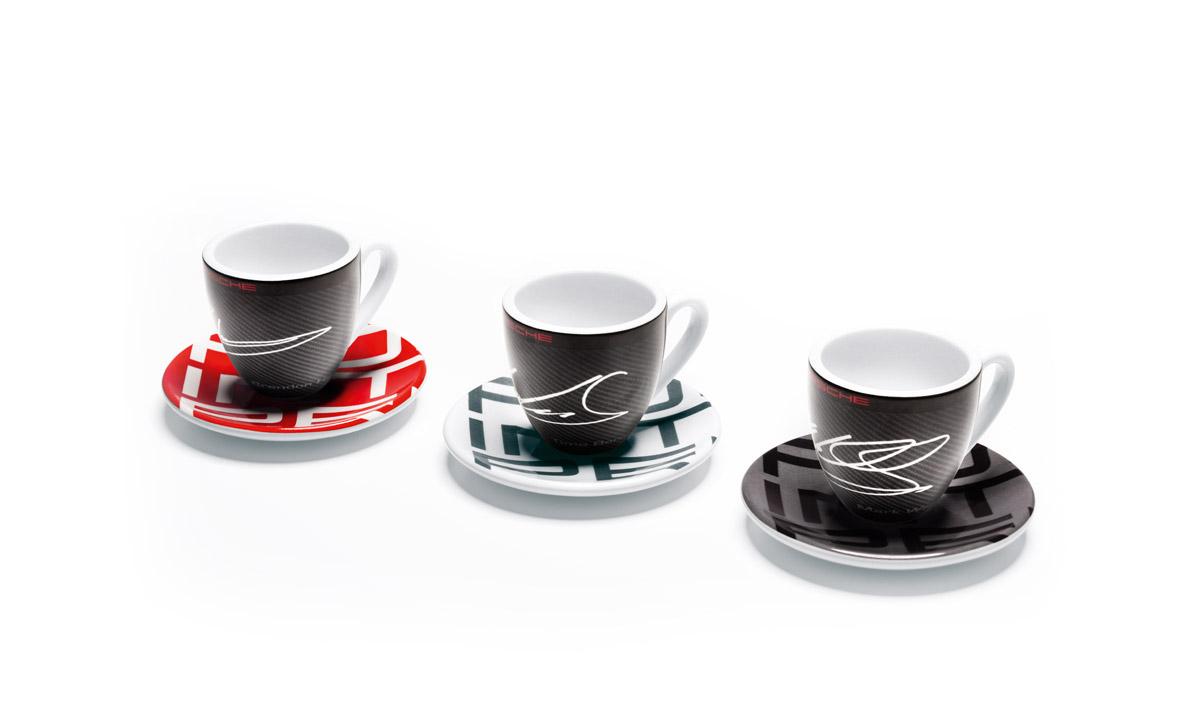 espresso cups set of 3 racing collection home. Black Bedroom Furniture Sets. Home Design Ideas