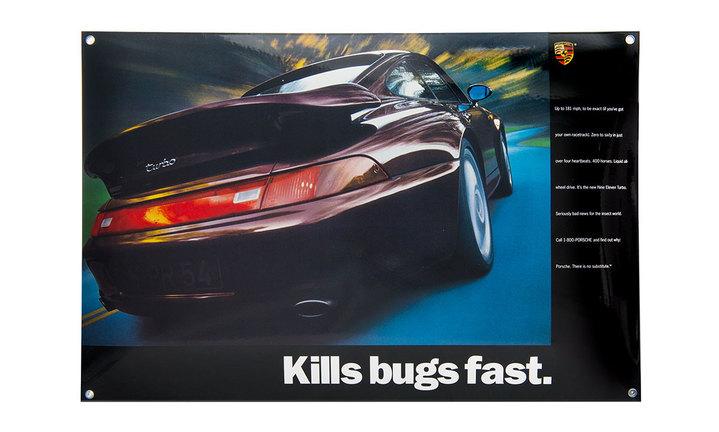 """クラシック エナメルサイン """"Kills bugs fast"""""""