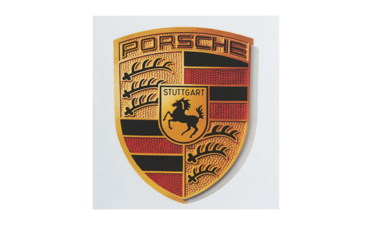 Crest sticker 3d pins stickers and magnets lifestyle porsche drivers selection