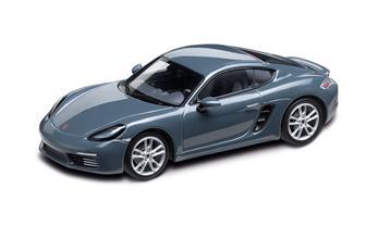 1:43 Model Car   718 Cayman in Graphite Blue Metallic
