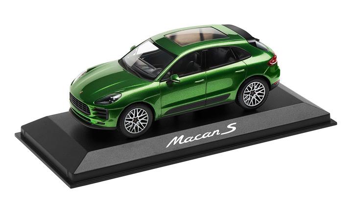 1:43 Model Car | Macan S in Mamba Green Metallic
