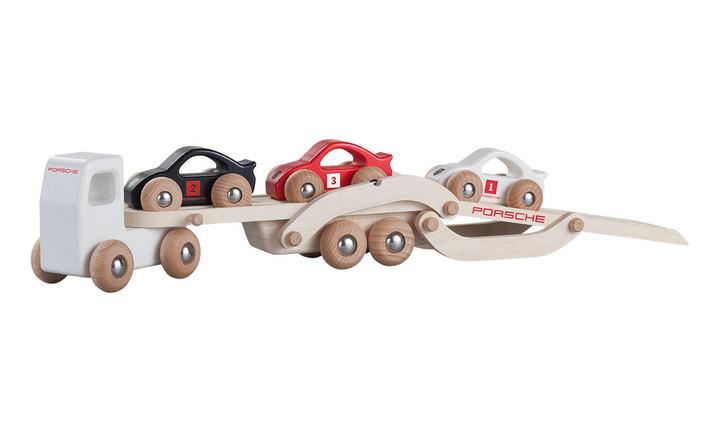 Porsche wooden racing truck
