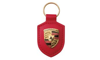 Porsche crest keyring, red