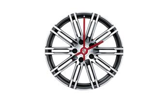 Porsche 911 Turbo wheel rim clock