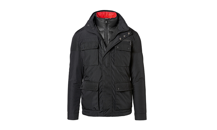 2 in 1 Jacket, Men, black/red