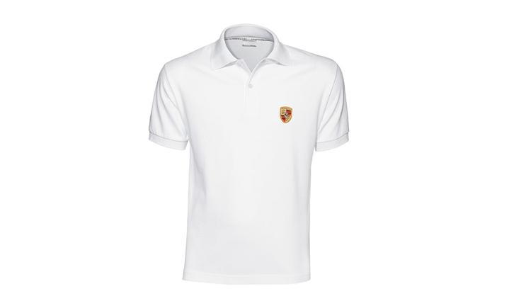 Porsche Men's Classic Crest Polo in White