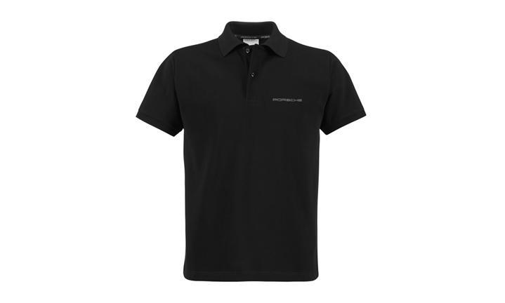Porsche Classic Logo Men's Polo in Black