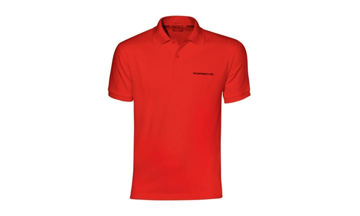 Porsche Classic Logo Men's Polo in Red
