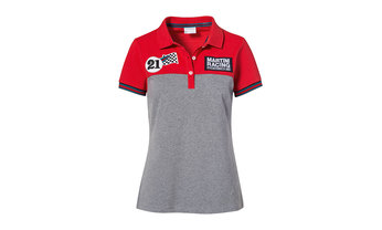 Martini Racing Ladies' Polo Shirt in Red and Grey