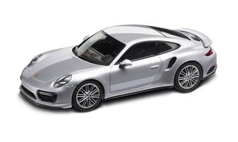 911 (991 II) Turbo Coupé, rhodiumsilbermetallic, 1:43