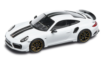 911 Turbo S Exclusive Series – Limited Edition; carrara white metallic; 1:43