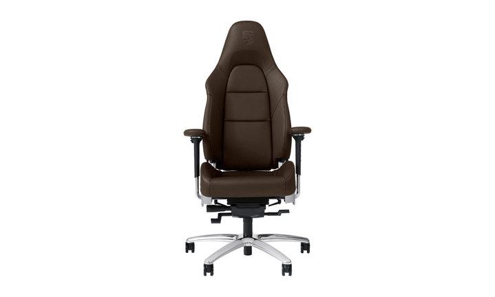 Si ge de bureau personnalisable marron cuir - Siege de bureau cuir ...