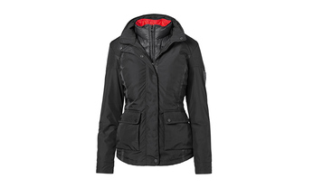 Porsche Ladies' 2 in 1 Jacket in Black and Red (Special Order Only)