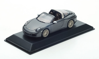 911 Targa 4 GTS Exclusive, Achatgraumetallic 1:43, Limited Edition