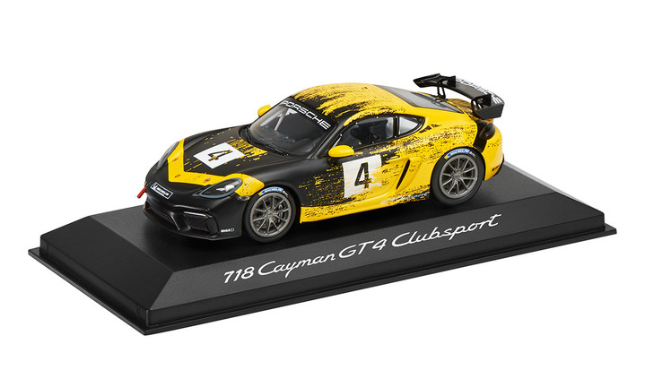 718 Cayman GT4 Clubsport, yellow/black, 1:43, DieCast