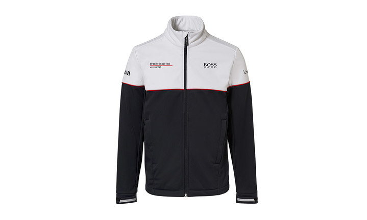 Motorsport Collection, Men's Black and White Softshell Jacket