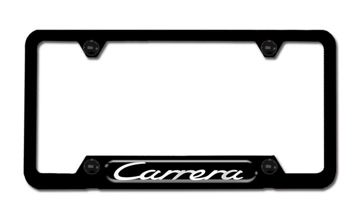 Carrera Black Stainless Steel License Plate Frame