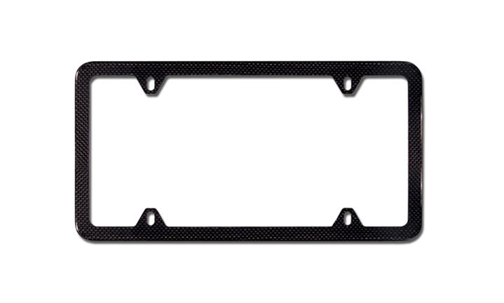 Carbon Fiber Composite Slimline License plate frame